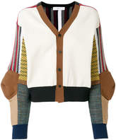 Toga Pulla patchwork knitted cardigan