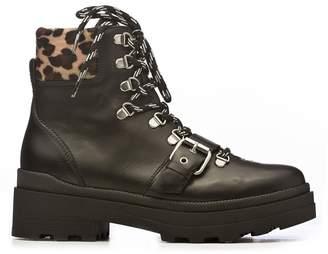 Janet & Janet Janet&janet Leopard Detail Boots