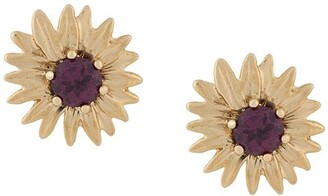 Aurelie Bidermann 18kt gold rhodolite Bouquet earrings