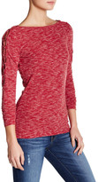 Jessica Simpson Darby Lace-Up Sleeve Shirt