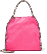 Stella McCartney The Falabella Mini Faux Brushed-leather Tote - Pink