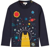 Paul Smith Navy Space Cat Print Tee