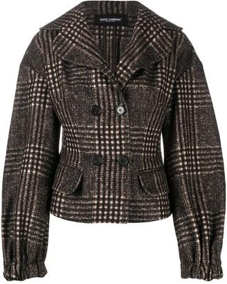 Dolce & Gabbana Tweed Check Jacket