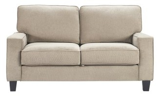"""Serta Palisades 60.6"""" Square Arm Loveseat at Home Upholstery Color: Soft Beige"""