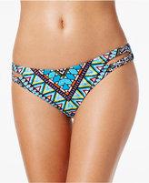 Bar III Reversible Printed Cutout Bikini Bottoms, Only at Macy's