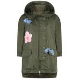 Moncler MonclerGirls Khaki Floral Print Sora Jacket