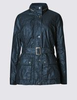Marks and Spencer Waxy Two Pocket Hodded Parka Jacket