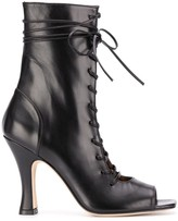 Paris Texas open-toe lace up boots