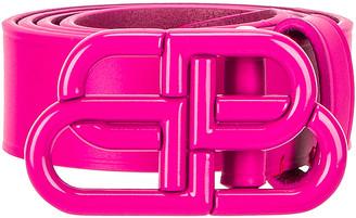 Balenciaga BB Thin Belt in Fuchsia | FWRD