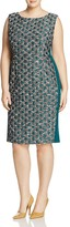 Marina Rinaldi Dattilo Jacquard Sheath Dress