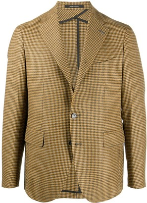 Tagliatore Houndstooth Single-Breasted Blazer