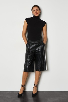 Karen Millen Leather Colourblock Culotte