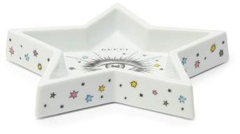 Gucci Star Eye Porcelain Tray - White Multi