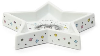 Gucci Star Eye Porcelain Tray - White Multi