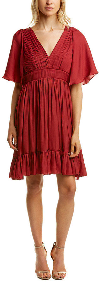 Halston Pleated Mini Dress