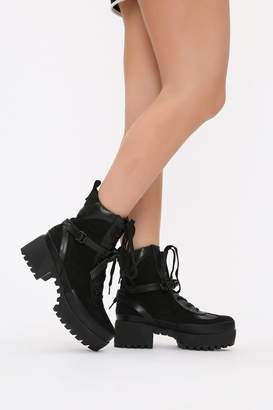 I SAW IT FIRST Black Biker Style Ankle Boots