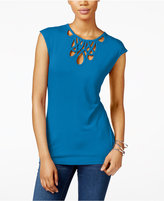 INC International Concepts Petite Cutout Top, Only at Macy's