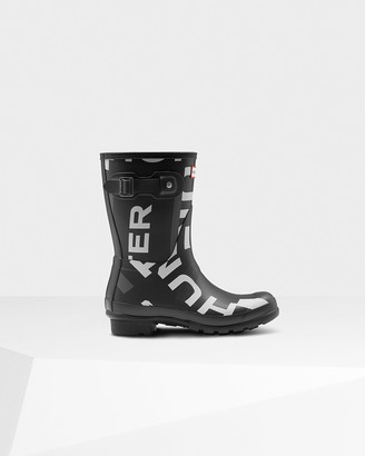 Hunter Women's Original Exploded Logo Short Rain Boots
