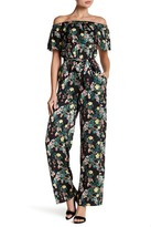 Bebe Off-the-Shoulder Floral Jumpsuit
