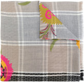 Etro woven floral check scarf - women - Wool/Polyester - One Size