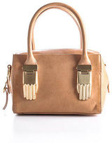 Opening Ceremony Tan Leather Gold Tone Mini Satchel Handbag 90061902
