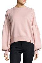 Burberry Bell-Sleeve Sweatshirt, Pink