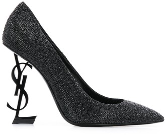 Saint Laurent Opyum glitter pumps