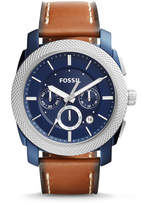 Fossil Machine Chronograph Dark Brown Leather Watch