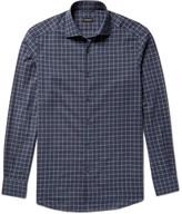 Ermenegildo Zegna - Slim-fit Windowpane-checked Cotton Shirt