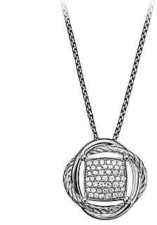 David Yurman Women's Infinity Small Pendant Necklace with Diamonds