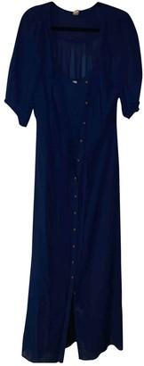 Anthropologie Blue Viscose Dresses