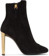 Giuseppe Zanotti Black Suede Ruggente Boots