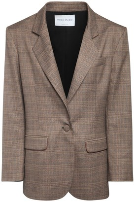 Hebe Studio Lover Prince Of Wales Blazer Jacket