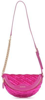 Balenciaga Souvenirs XXS velvet belt bag