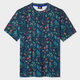 Paul Smith Men's Navy 'Tropical Floral' Print T-Shirt