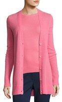 Michael Kors Cashmere-Blend V-Neck Cardigan, Pink