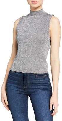 Alice + Olivia Lanie Sleeveless High-Neck Pullover Sweater