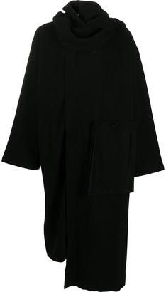 Yohji Yamamoto Wrap-Style Cardi-Coat