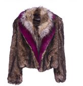 Dries Van Noten Cropped Faux Fur Jacket