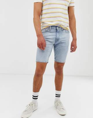 Levi's 511 slim fit low rise hemmed denim shorts in gallatin light wash-Blue