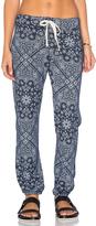 Sundry Bandana Pattern Fleece Sweatpant