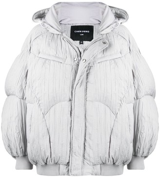CHEN PENG Pleated Down Puffer Jacket