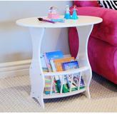 Frenchi Home Furnishing White Storage End Table