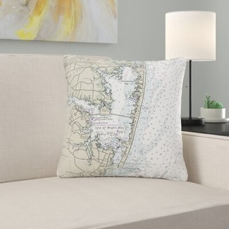V&A East Urban Home Fenwick Island to Chincoteague Inlet, VA Non Corded Indoor/Outdoor Throw Pillow Cover East Urban Home