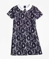 Brooks Brothers Cotton Floral Lace Dress