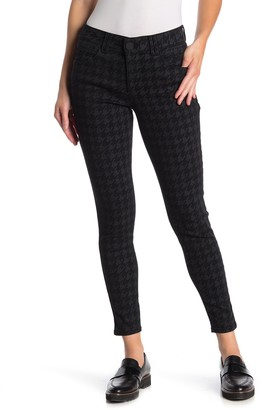 Democracy Ab Tech Houndstooth Print Skinny Ankle Pants