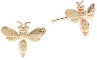 Saks Fifth Avenue Made In Italy 14K Yellow Gold Stud Earrings