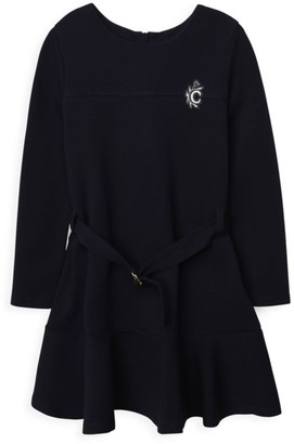 Chloé Little Girl's & Girl's Milano-Knit Embroidered C Logo Dress