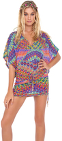 Luli Fama Free Love Cabana V-Neck Dress in Multicolor (L473976)