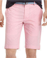 Izod Shorts, Straight-Fit Gingham Flat-Front